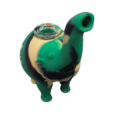 HIT Silicone Elephant pipe with Glass bowl