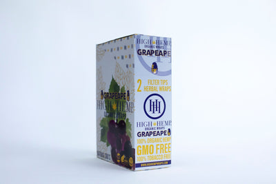 High Hemp Organic Wraps Grapeape 25packs box
