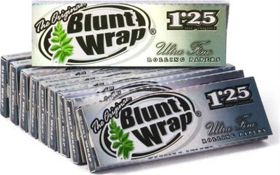 "Blunt Wrap Silver Ultra Fine Rolling Papers - 1 1/4"" - 24 pk - 24 Leaves"
