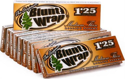 "Blunt Wrap Medium Thin Gold Rolling Papers - 1 1/4"" - 24pk/24cs"