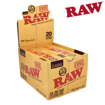 RAW PRE-ROLLED CONES 98 SPECIAL 20pk