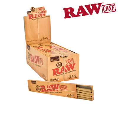 RAW Pre-Rolled Lean Cones - 20 packs