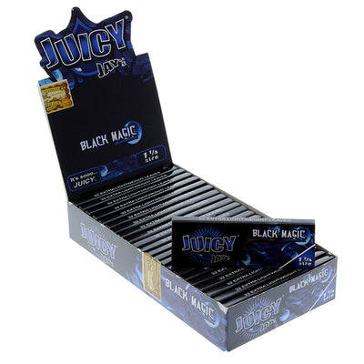 Juicy Jay-s 1 ¼ size Flavored rolling paper BLACK MAGIC
