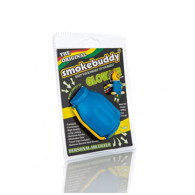 Glow in the Dark Edition Smokebuddy Original Personal Air Filter Blue