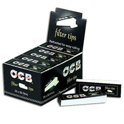 OCB Filter Tips Box, 25 Booklets x 50 Sheets
