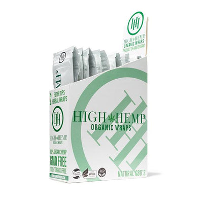 High Hemp Organic Wraps 25packs box