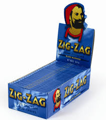 Zig Zag Blue Single wide size 25 booklets