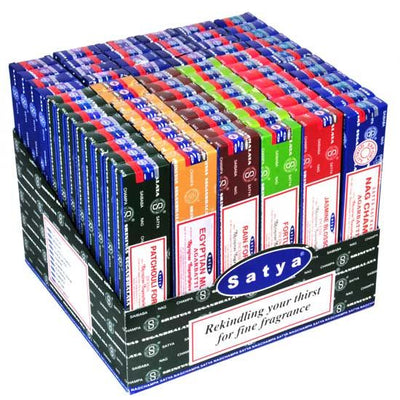 Satya Nag Champa Incense 72packs*15g (12 scents)