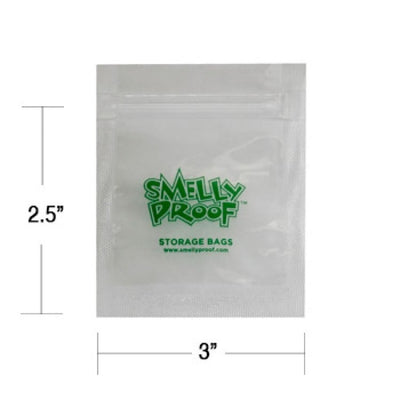 "Smelly proof bags XXSmall Storage Bags (2.5""x3"") Clear 100pcs/pk"