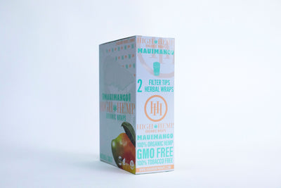 High Hemp Organic Wraps Maui Mango 25packs box