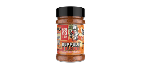 Angus & Oink Meat Co Buffalo Soldier Hot Wing BBQ Rub Seasoning
