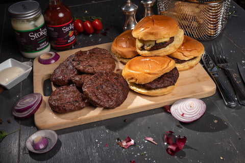 Steak Burgers (20 x 100g Pack) - Fresh Premium Beef