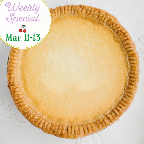 Old-Fashioned Chess Pie: Mar 11-13