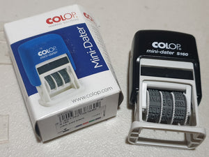 Colop Mini Dater S160 Printer Self-Inking Rubber Stamp (plate)