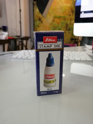 Shiny S-63 Stampad Ink,  Shiny Blue Ink, 28 ml.