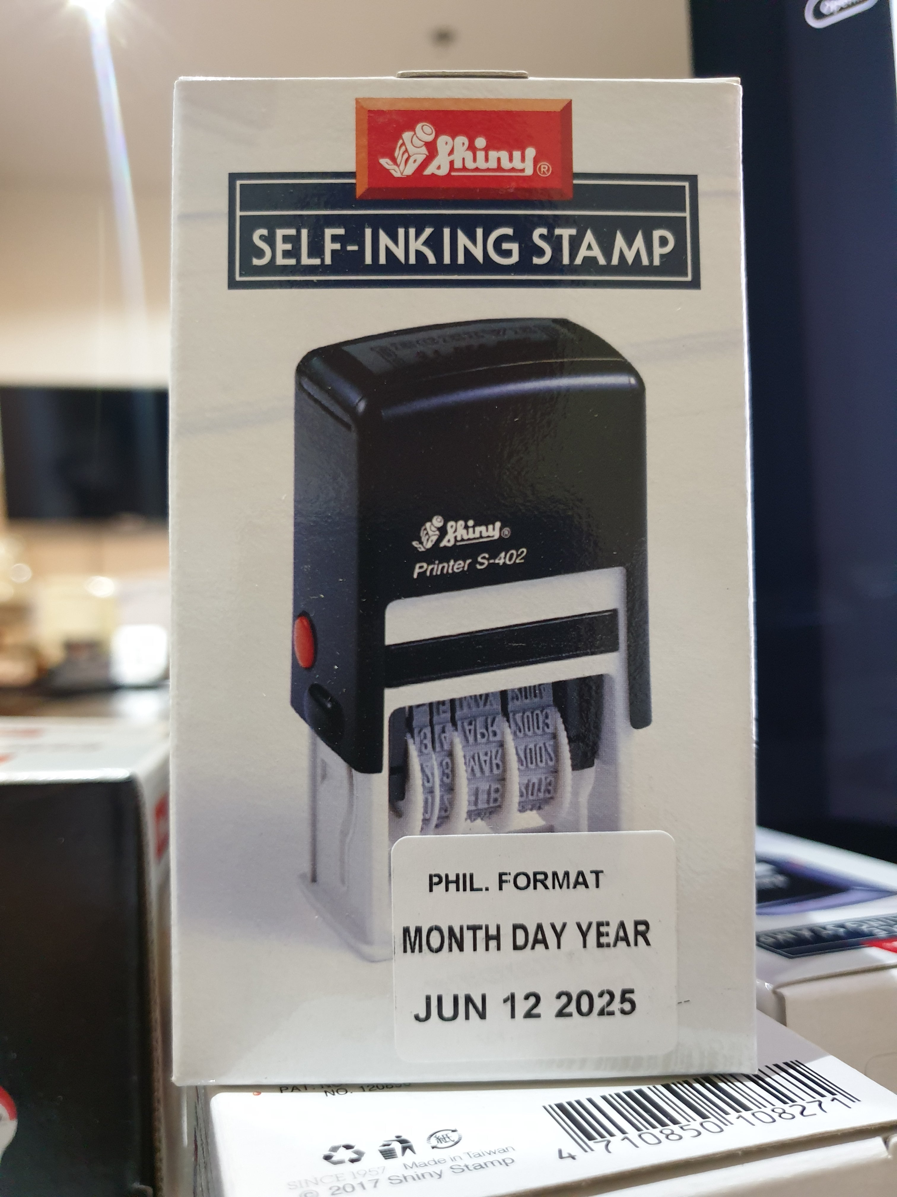 S-402 Shiny Self-Inking Stamp RECEIVED