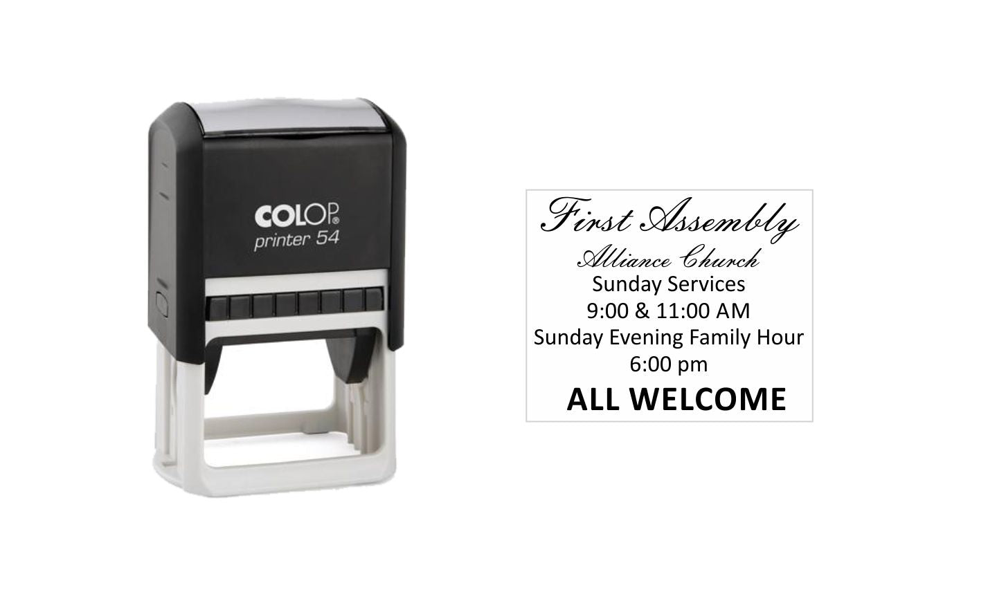 COLOP Printer 54  Self-Inking Rubber Stamp