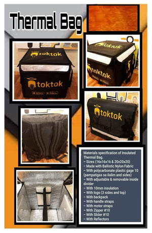 Toktok Insulated Thermal Bag for Safe