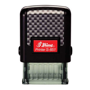 Shiny S-851 Self-inking Stamp Printer with Key Chain