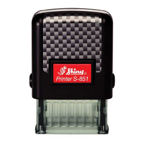 "S-851 Self-inking Stamp Printer  max. 10 x 26mm (3/8""x1"") with Key Chain"