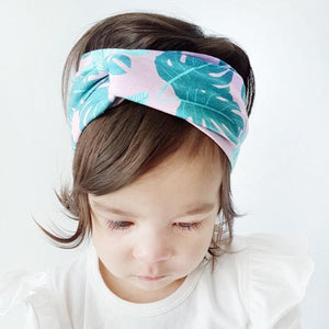 Pink Palm Print Turban Headband