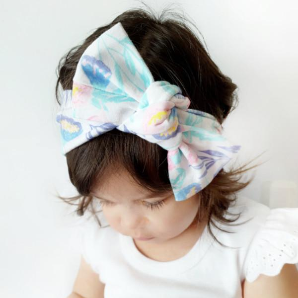 Spring Fling Floral Print Bow Knot Headband