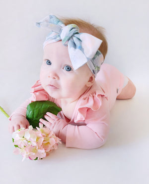 Winter Floral Bow Knot Headband