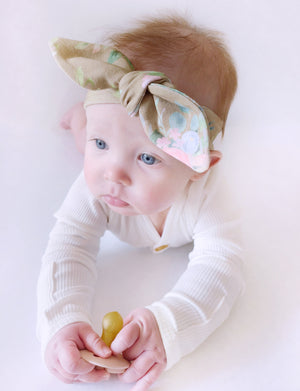 Fern Floral Top Knot Headband