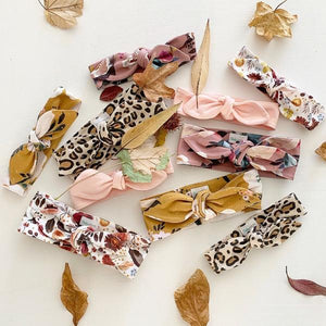 Autumn Bloom Top Knot Headband