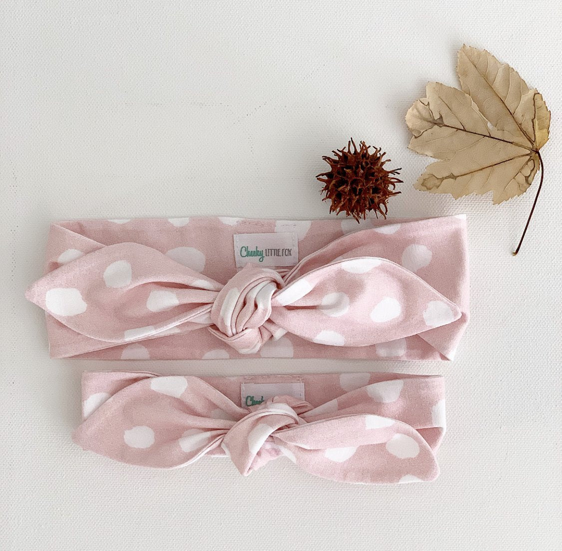 Blush Confetti Top Knot Headband