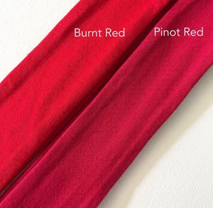 Burnt Red Top Knot Headband