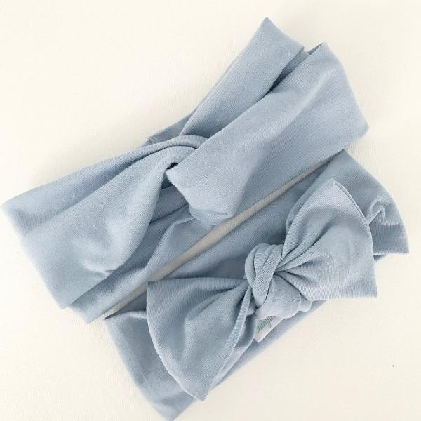 Chambray Bow Knot Headband
