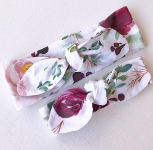 Mulberry Floral Top Knot Headband