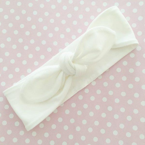 White Top Knot Headband