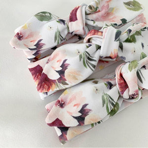 Mulberry Rose Top Knot Headband