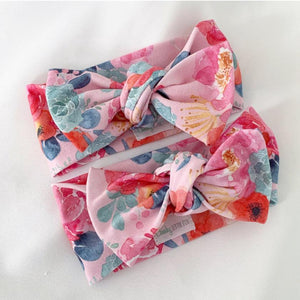 Poppy Pink Bow Knot Headband