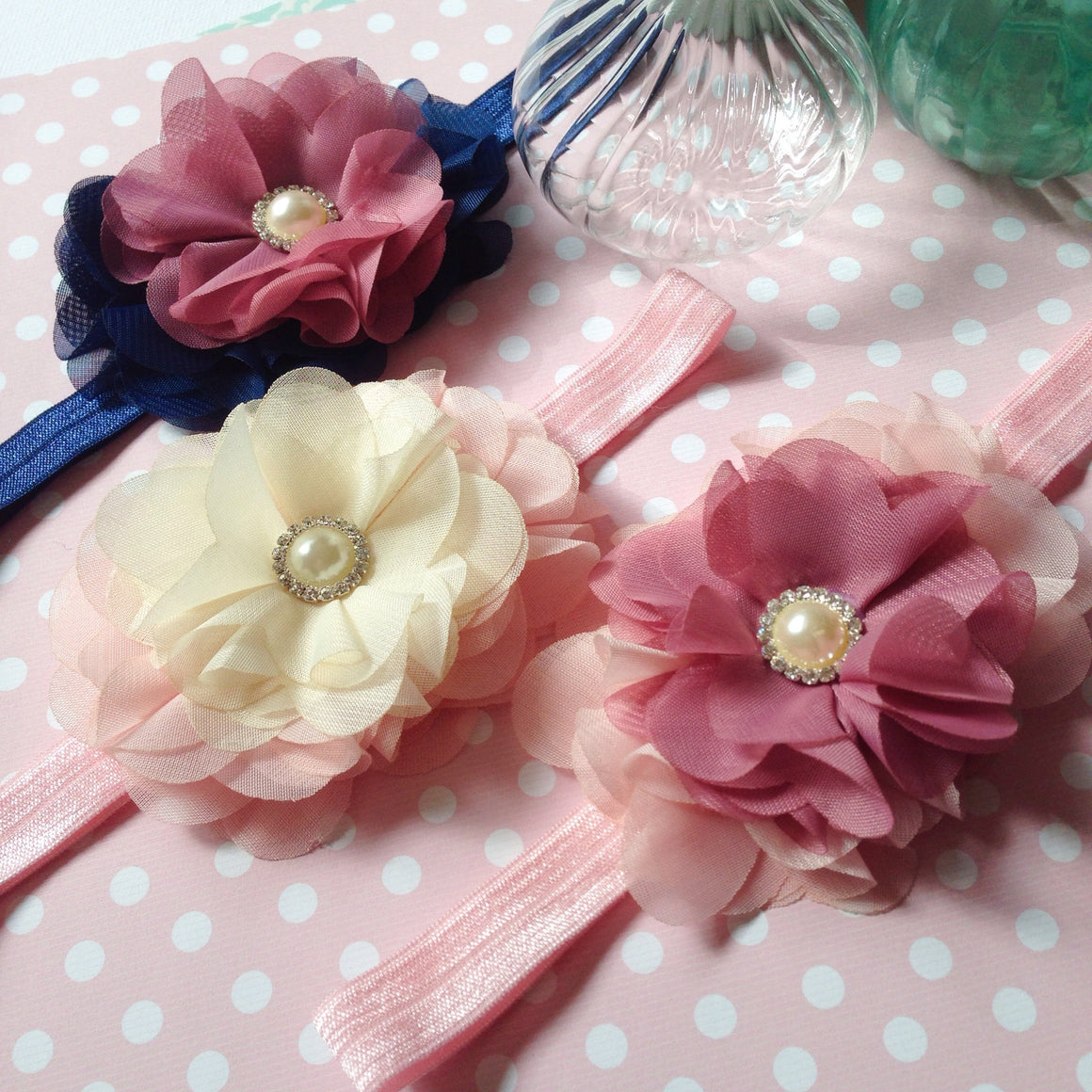 Triple Pearly Lou Headband