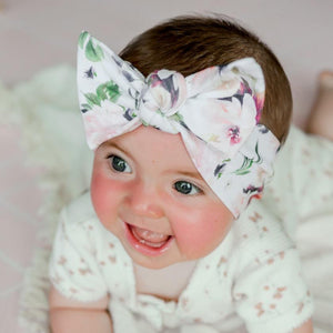 Mulberry Rose Bow Knot Headband