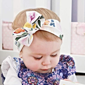 Navy & Mustard Floral Top Knot Headband