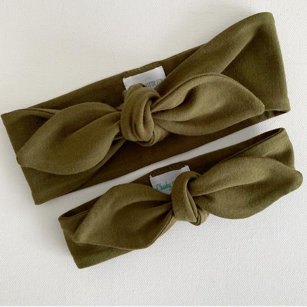 Olive Top Knot Headband