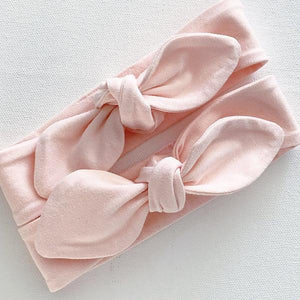 Pinky Peach Top Knot Headband