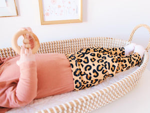 Peach Leopard Print Leggings