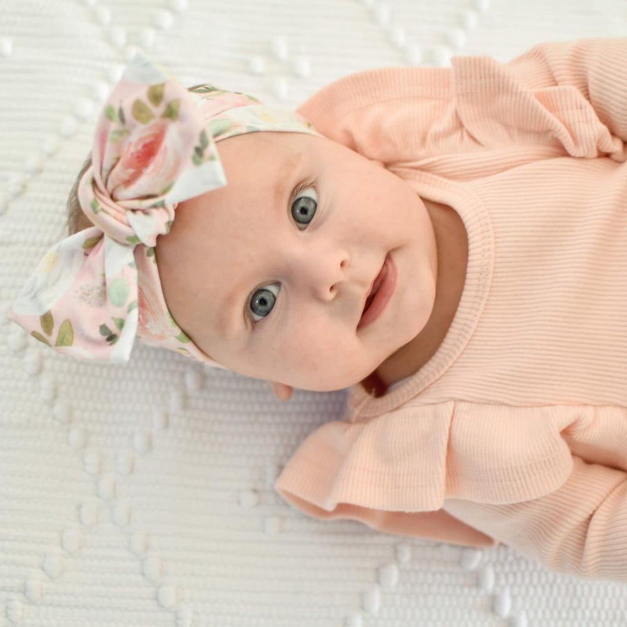 Blush Floral Bow Knot Headband