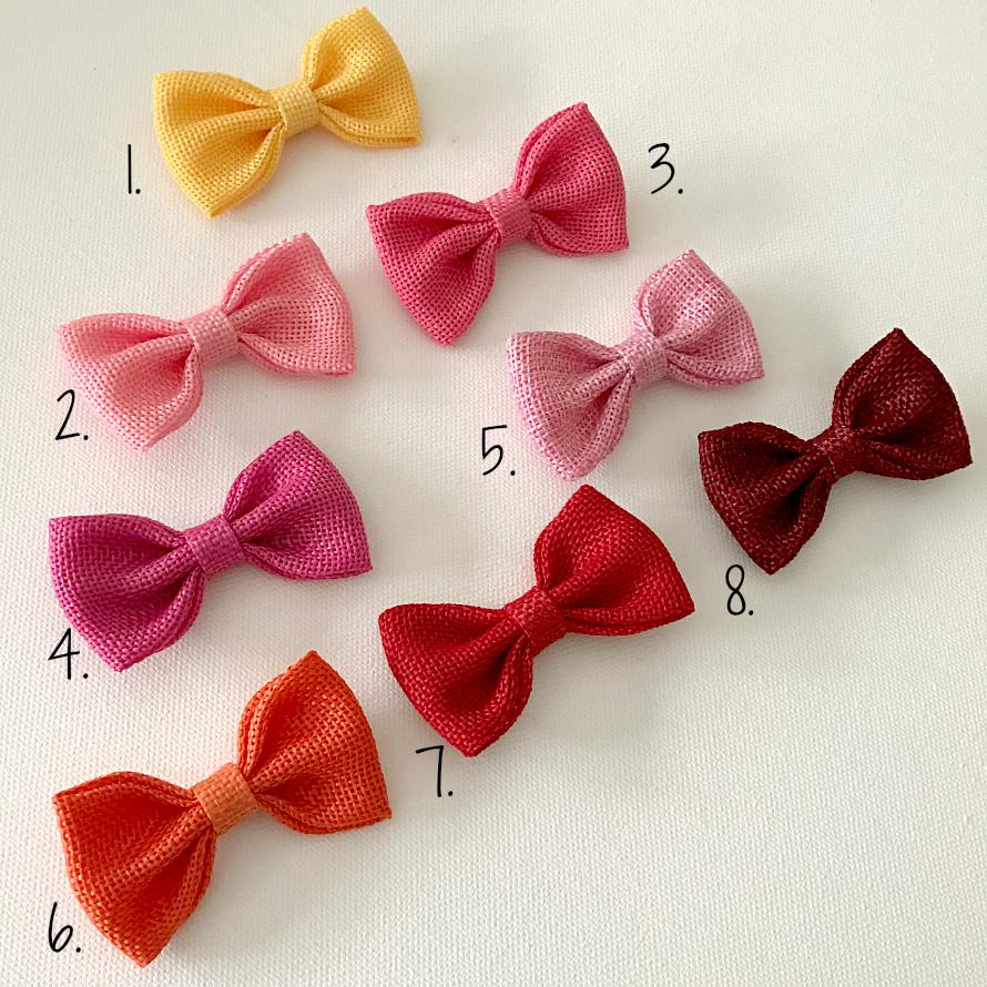 Pippa Burlap Bow Hair Clips