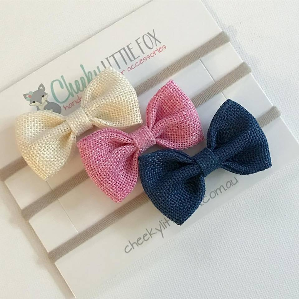 Pippa - Burlap Bow Headbands