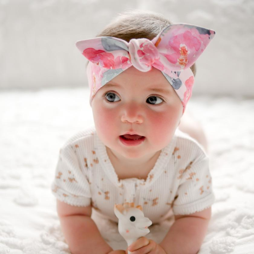 Poppy Pink Top Knot Headband