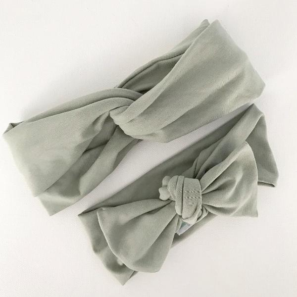 Sage Bow Knot Headband