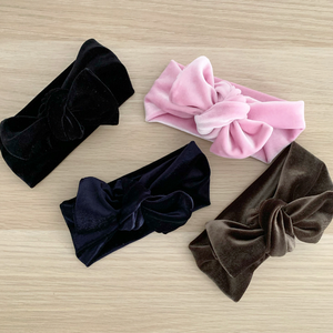Velvet Bow Knot Headbands