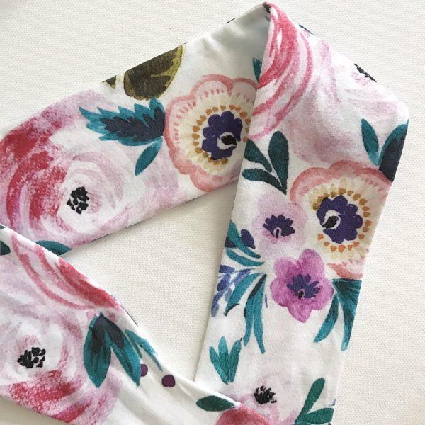 Winter Rose Top Knot Headband