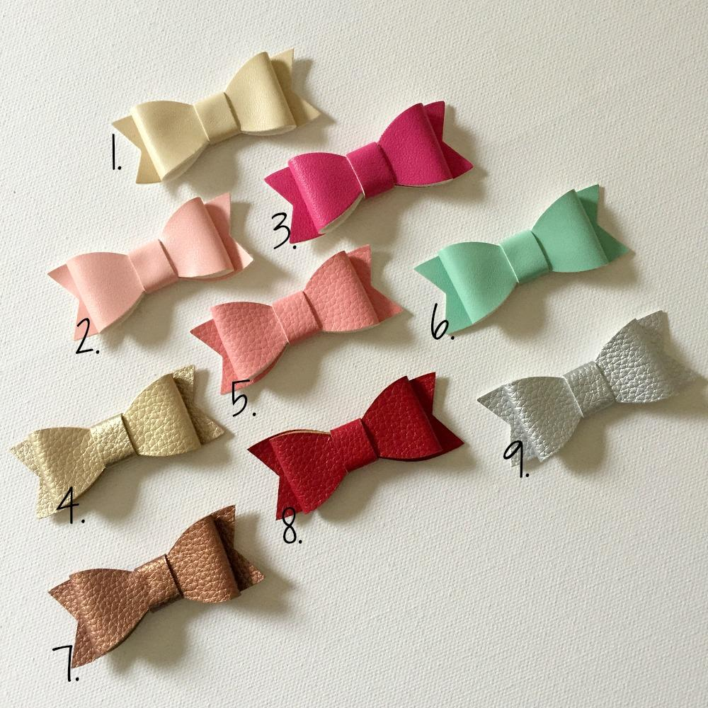 Lola - Faux Leather Hair Clips